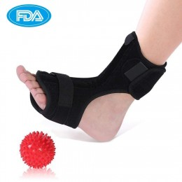 Plantar Fasciitis Support, Orthotics Drop Foot Brace Kit with a Massage Ball Roller, Foot Night Splint for Plantar Fasciitis, Tendon Stretch, Achilles, Heel Spur Relief, Fits Left or Right Foot