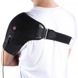 Heat Shoulder Brace Adjustable Shoulder Heating Pad with Hot and Cold Therapy for Frozen Shoulder, Bursitis, Tendinitis, Paralysis, Strain, Stiff, Soreness Fits Men and Women