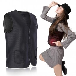 Electric Heated Vest, Lightweight Size Adjustable USB Charging Clothing