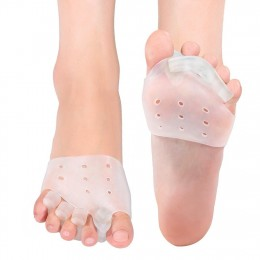 Gel Toe Separators Metatarsal Pads Kit for Hammer Toe Straightener Spacer Bunion Pain Relief Callus Blister Hallux Valgus Overlapping Toes