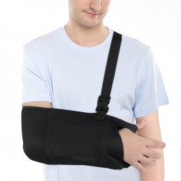 Arm Sling, Breathable Shoulder Immobilizer Sling for Dislocated Shoulder, Rotator Cuff, Broken Hand Elbow, Adjustable Strap for Left and Right Arm, Fits Men and Women