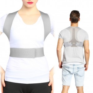 DOACT Posture Corrector for Men and Women, Back Posture Brace Clavicle Support for Chest Slouching and Hunching, Adjustable Upper Back Shoulder Posture Trainer Spinal Straightener- Gray