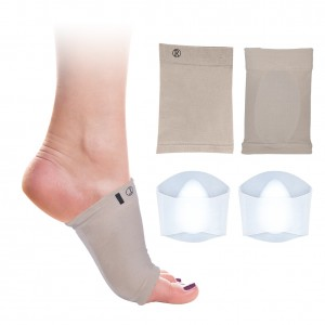 DOACT 2 Pairs Gel Arch Supports Wraps Sleeves Kits, Arch Cushion Socks with Pads for Foot Pain Relief, Plantar Fasciitis, Flat Foot for Women and Men, One Size Fits Most