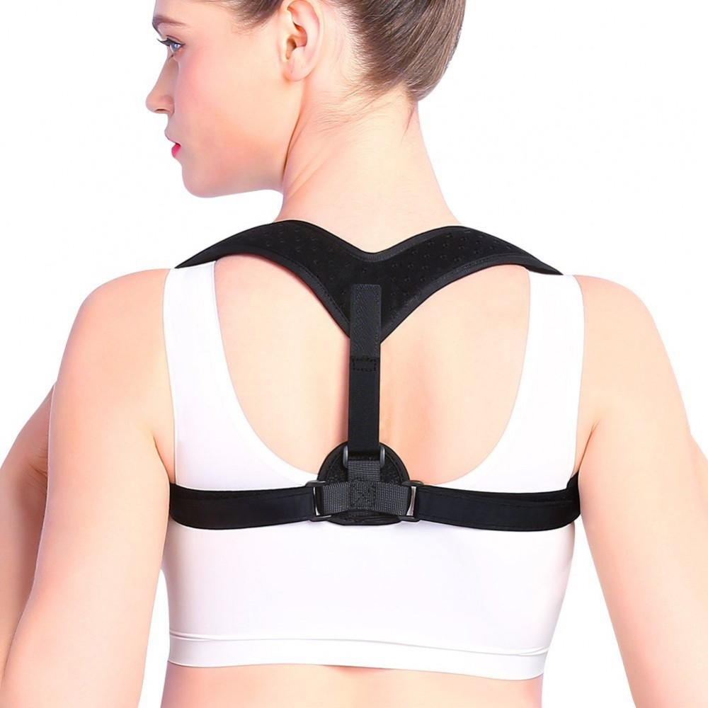 5e788e4ac Adjustable Upper Back Straightener Clavicle Brace for Women Men Correct  Sitting Office Work Neck and Shoulder Posture