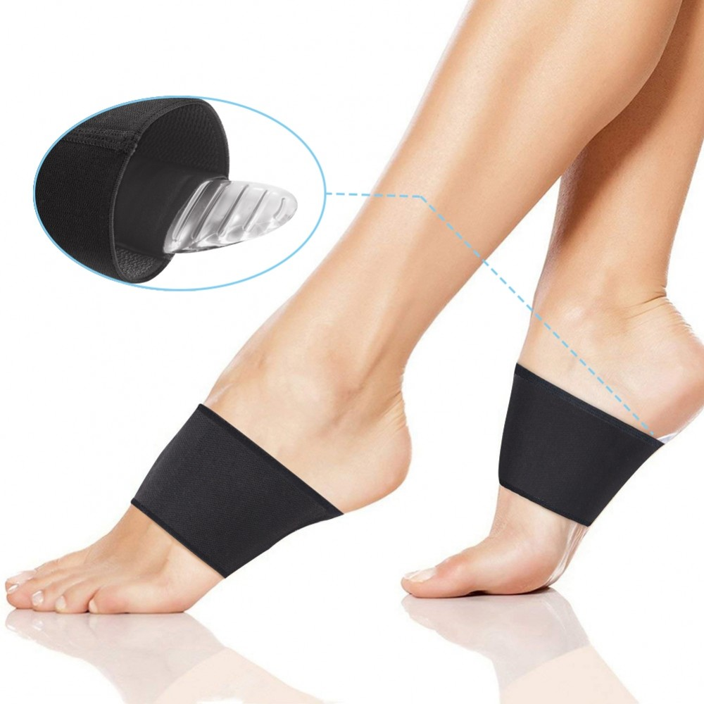 e3d5ff7091 DOACT Arch Support Compression Sleeves with Detachable Gel Arch Cushion,  Plantar Fasciitis Shoes Insert Cushion for Foot Pain Relief, Heel Spurs and  Flat ...