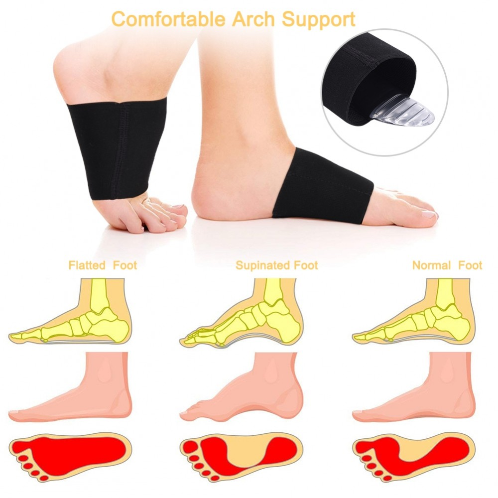 Foot Pain Relief Plantar Fasciitis Insole Pads Arch Support Shoes Insert 2 Pairs