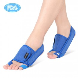 DOACT Bunion Corrector Splint, Three-Dimensional Pressure Hallux Valgus Orthosis Corrector with Hook and Loop, Toe Straightener and Small Toe Correction Strap for Men and Women Bunion Pain Relief